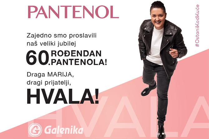 Galenika through home-online concert of Marija Šerifović Marked 60 Years of Pantenol